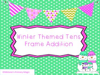 Winter Tens Frame Addition