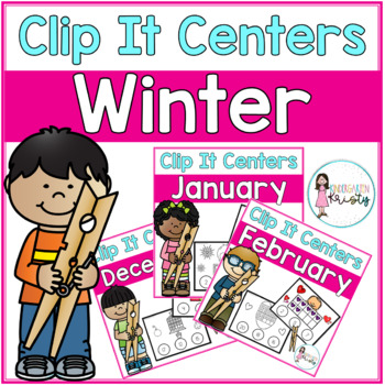Winter Tens Frame Clip It Centers