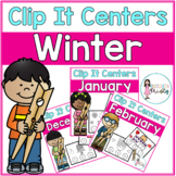 Winter Tens Frame Clip It Centers