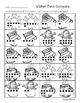 Winter Tens Frame Comparisons - Number Sense - Greatest / Least Practice