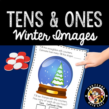 Place Value Tens and Ones - 20 Winter Math Centers