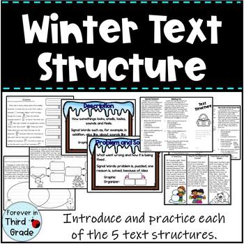 Winter Text Structure 3rd Grade