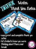 Winter Thank You Notes