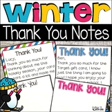 Winter Thank You Notes {Editable}