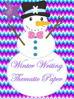 Winter Thematic Writing Paper...Fun Comtemporary Colors