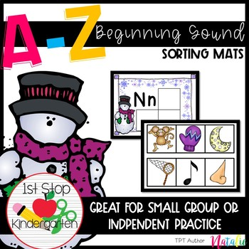 Winter Theme: A to Z Beginning Sound Sorting Mats