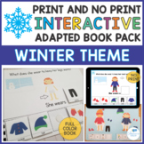 Winter Interactive Adapted Book and File Folder Game - WH Questions and Pronouns