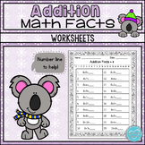 Winter Theme Addition Sheets: Doubles, Doubles +1, Making Tens