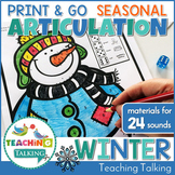 Winter Articulation Worksheets Print & Go