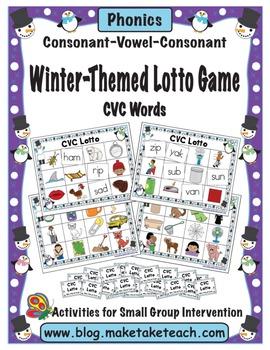 Winter Themed CVC Lotto Game