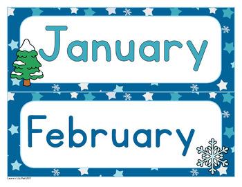 Winter Theme Calendar Set