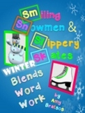 Winter Theme Consonant Blend & Digraph Word Work Literacy Center and Activities