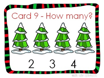 Winter Theme Counting Cards 1-10 for PreK and Kindergarten