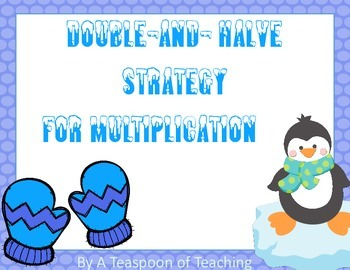 Winter Theme Double-and-Halves Strategy for Mulitplication Task Cards