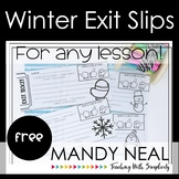 Winter Theme Exit Slips