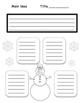 Winter Theme Graphic Organizers for Reading