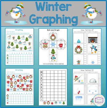 Winter Theme Graphing - How Tall Am I - Roll & Graph