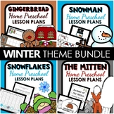 Winter Theme Home Preschool Lesson Plan and Winter Activities BUNDLE