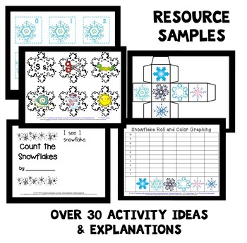 Winter Theme Home Preschool Lesson Plan and Winter Activities BUNDLE