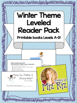 Winter Theme  Leveled Readers Pack! (Levels A-D/E)
