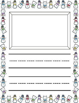 Winter Theme / L'hiver ~ Primary Illustrated Writing Pages