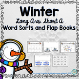 Winter Theme Long A Vs. Short A Word Sorts and Flap Books