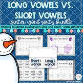 Winter Long Vowels Vs. Short Vowels Bundle