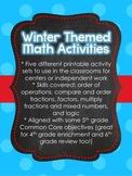 Winter Theme Math Center Activities for Upper Elementary (