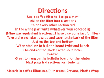 Winter Theme Minty Math Bulletin Board (Equivalent Fractions)