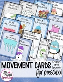 Winter Movement Cards for Preschool and Brain Break