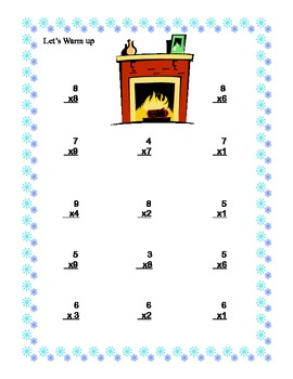 Winter Theme-Multiplication Practice for Grades 4 & 5