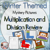 Winter Multiplication and Division Review Mystery Pictures