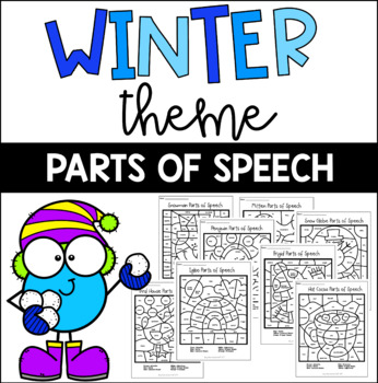 Winter Theme Parts of Speech Coloring