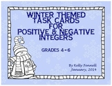 Positive and Negative Number Task Cards {Winter Theme}