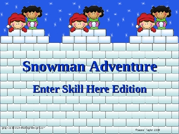 Winter Theme PowerPoint Game Template