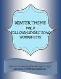 Winter Theme Pre-K Following Directions worksheets