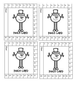 Winter Theme Punch Cards - Behavior Management
