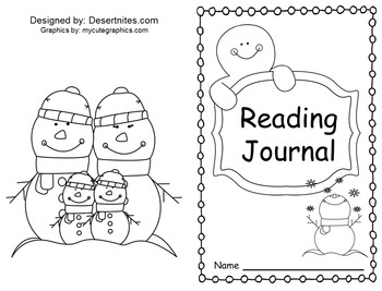 Winter Theme Reading Journal