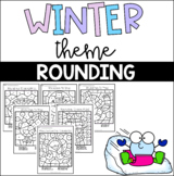 Winter Theme Rounding to Tens and Hundreds Coloring