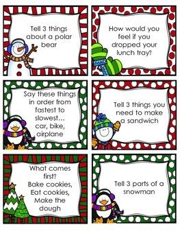 Winter Theme Semantics Vocabulary Game