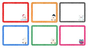 Winter Theme Set Multi-use Cards (Editable)