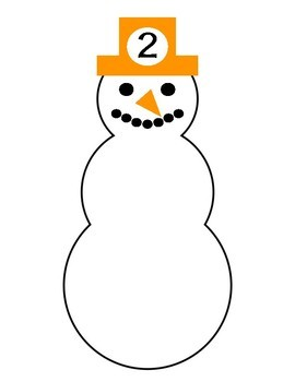 Winter Theme Snowman Counting Center