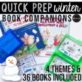 Winter Theme Speech Therapy Book Companions: Quick Prep Se