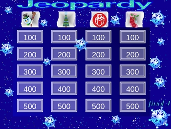 Winter Theme Thinkepardy Game Template