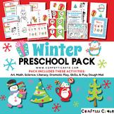 Winter Activities Preschool (color and black & white version)