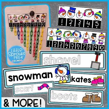 Winter Theme Unit - PreK, Kindergarten, Preschool, Pre-K