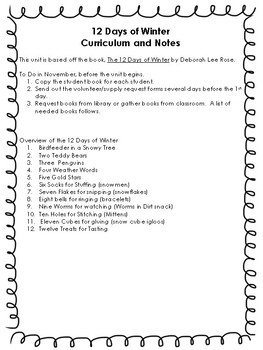 Winter Theme Unit: The 12 Days of Winter! {12 Days of FUN Winter Activities!}