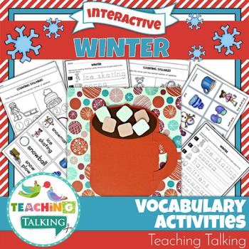 Winter Vocabulary Activities and Craftivity
