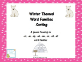 Winter Theme Word Family Sorting