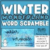 Winter Theme Word Scramble - Digital Morning Meeting Games